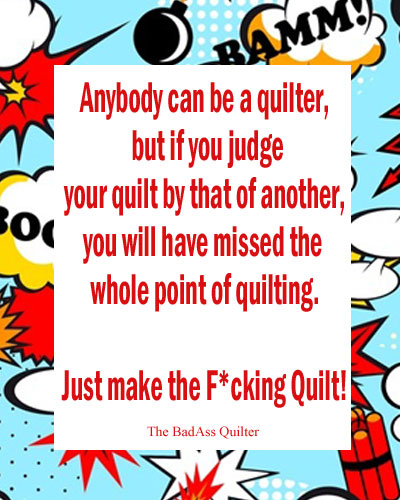 It's Ok To Be A Craptastic Quilter