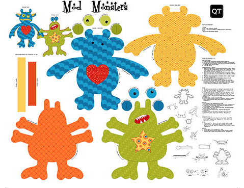 Mod Monsters By Qt Fabrics Badass Quilters Society